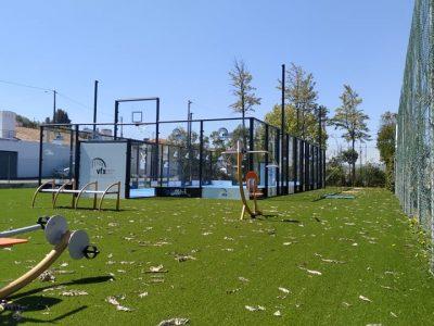 multidesportivo com espaço de exercício para exterior