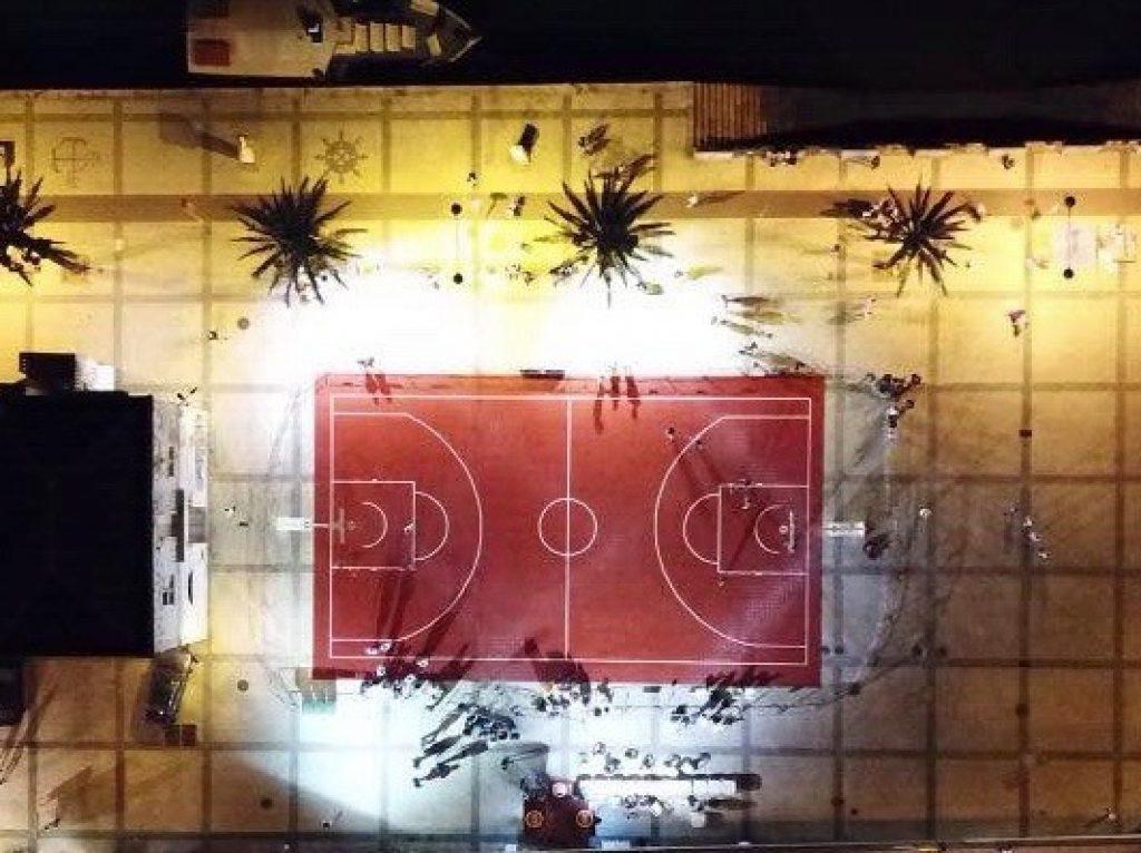 piso desportivo para exterior